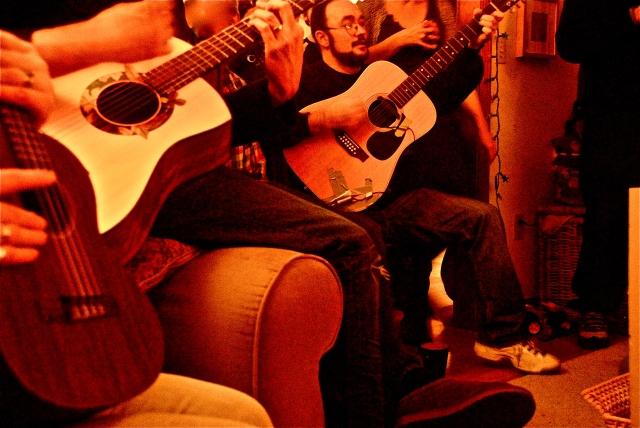 ukulele, guitar, Singalong, potluck